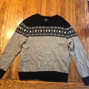 American Eagle grey and navy sweater